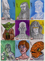 star wars galaxies 4 cards G4 by natelovett