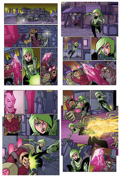 Sci-Fi sample pages colors