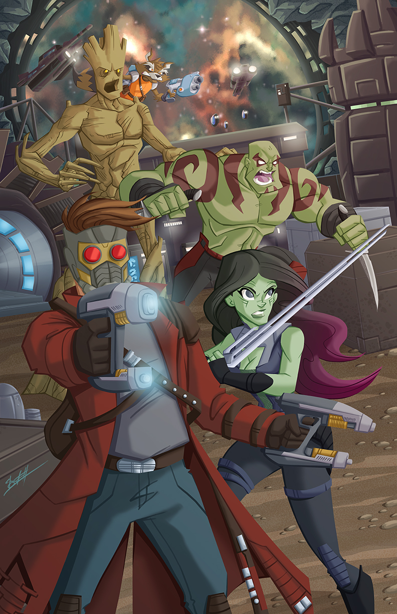 Guardians of the Galaxy by natelovett