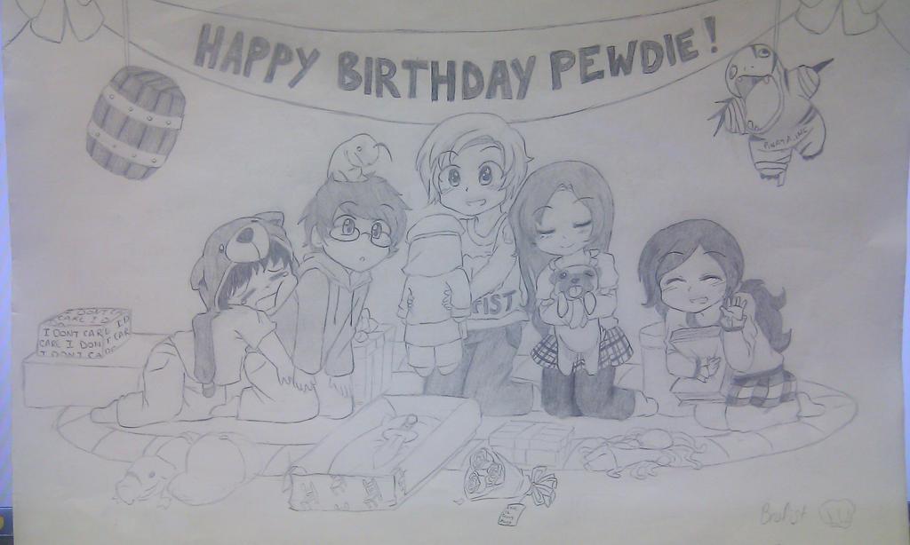 Happy Birthday Pewds! :D by HC-Otaku