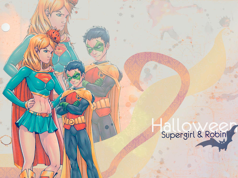 Supergirl-Robin-Halloween by AriesYami