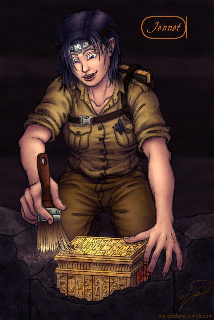 Jennison 'Jennet' Edwards - Archaeologist by MelAddams