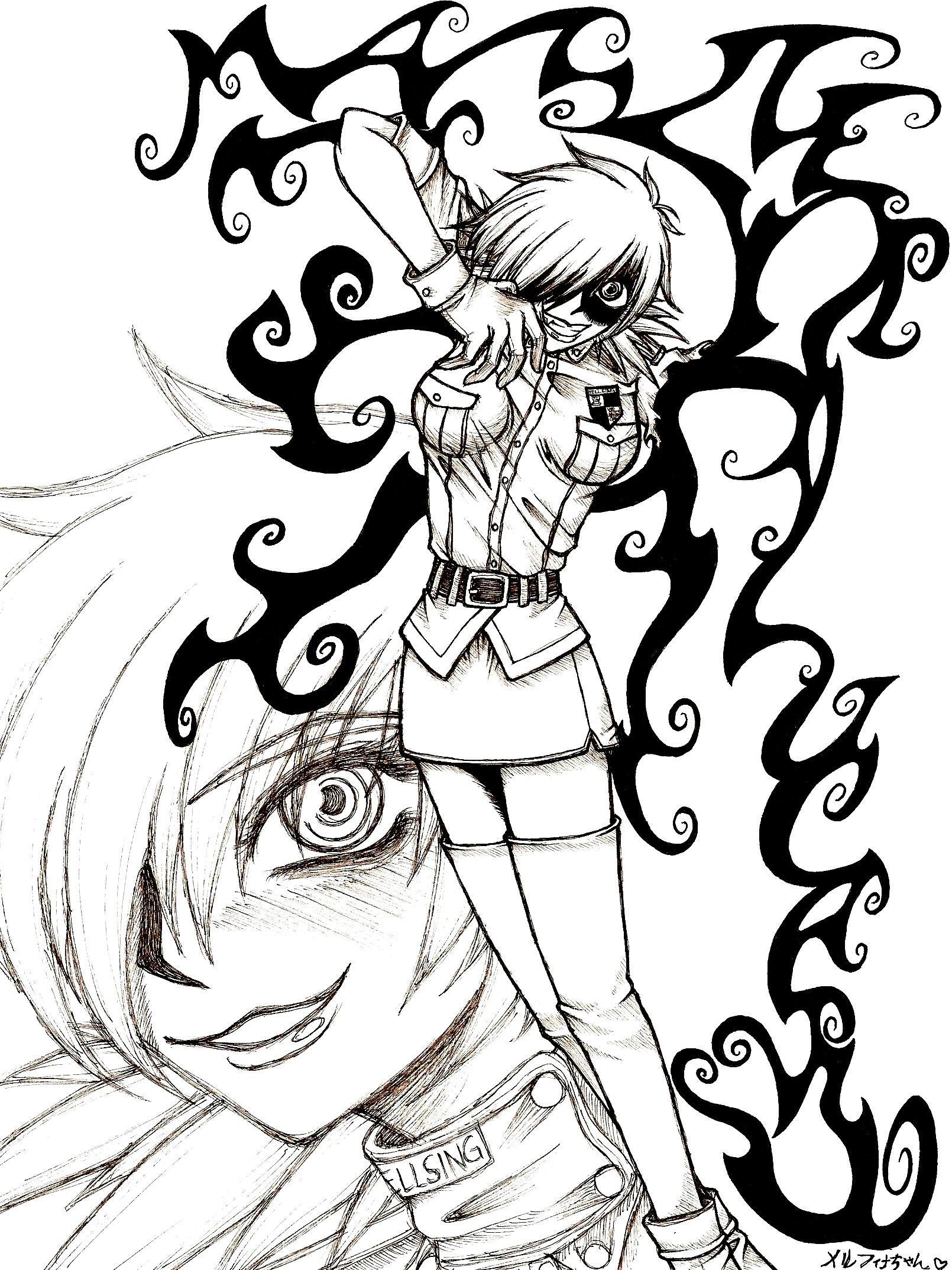 Seras Victoria-MASTER ALUCARD by Melfina-chan
