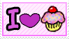 I Love Cupcake - Stamp by Manzhaniitha