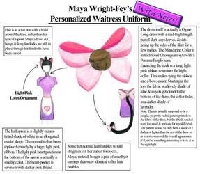 Maya's Personalized Waitress Uniform - With Notes by Aikoiya