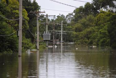 Flood waters - Ipswich QLD