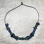 Blue Green and Purple Bead Necklace