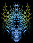 Abstract Skull Tree
