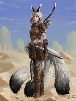 Desert Kitsune - Commissioned Character