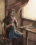Karthian Seamstress - Avorkarth Illustration