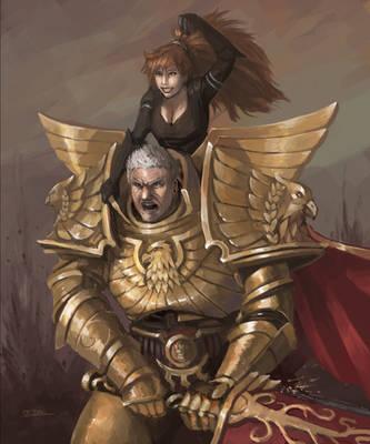 Rogal Dorn and Azaki