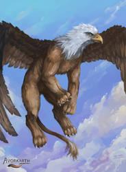 Skyborn Gryphon - Avorkarth Illustration