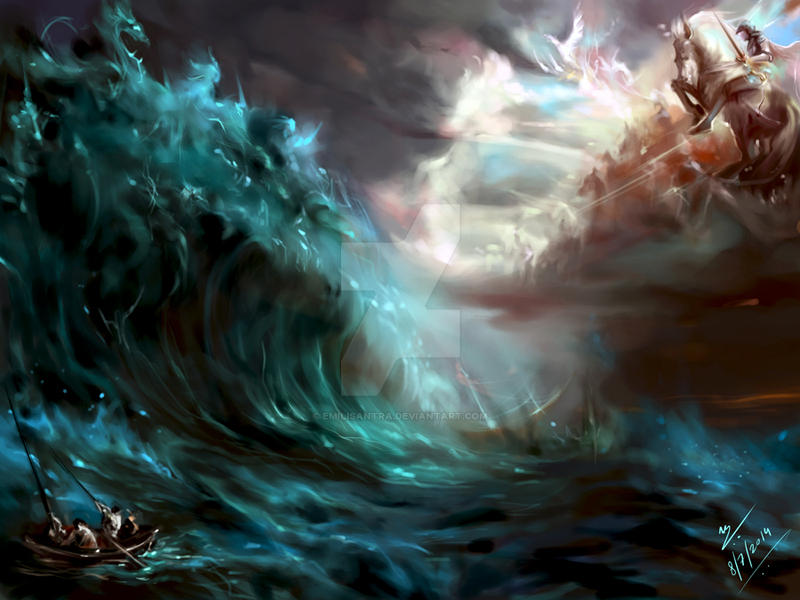my new digital painting fantasy background by emilisantra on