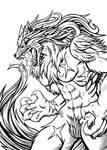 Lady Wolf -Redone- Ink by Paladin-Ciel