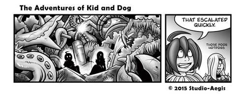 Kid And Dog - 028