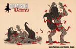 Crimson Dames - Mariette / Babette Size comparison