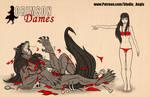 Crimson Dames - Mariette - Size Comparison