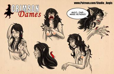 Crimson Dames - Werewolf Babette by Paladin-Ciel