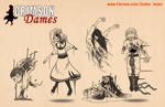 Crimson Dames - Ghost Children - Inks / Flats