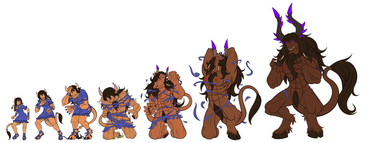 Minotauress - 7 Stages - Inks/Flats by Paladin-Ciel