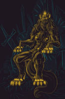 Lycan Majesty - Patreon Sketch Reward by Paladin-Ciel