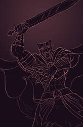 The Old Wolf - Slash - Sketch Reward by Paladin-Ciel