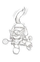 Q - Werewolf Puppy by Paladin-Ciel