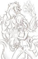 Jessica - Shewolf - Sketch Reward! by Paladin-Ciel