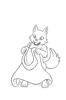 Werewolf Present - Sketch Reward