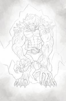 Werewolf Aberrant - Sketch Reward!