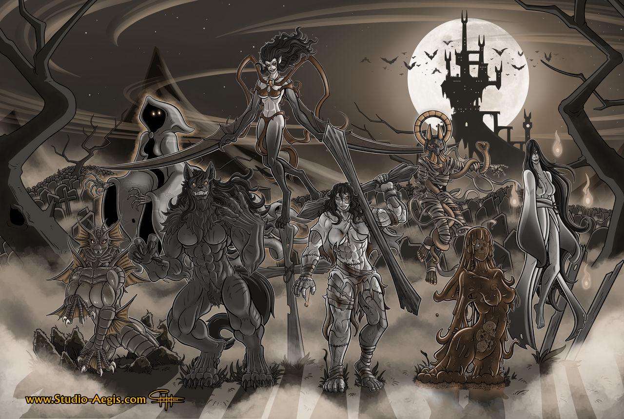 Ladies Of Halloween (Sepia)