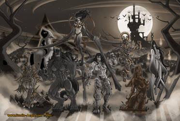 Ladies Of Halloween (Sepia) by Paladin-Ciel