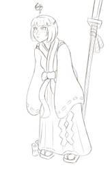 Shrine Girl (Sketch Reward!)