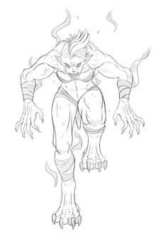 Shewolf Pounce (Sketch Reward!)