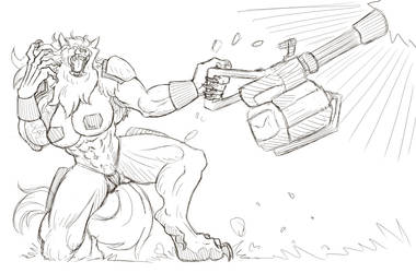 Euro Tank Shewolf (Sketch Reward!)