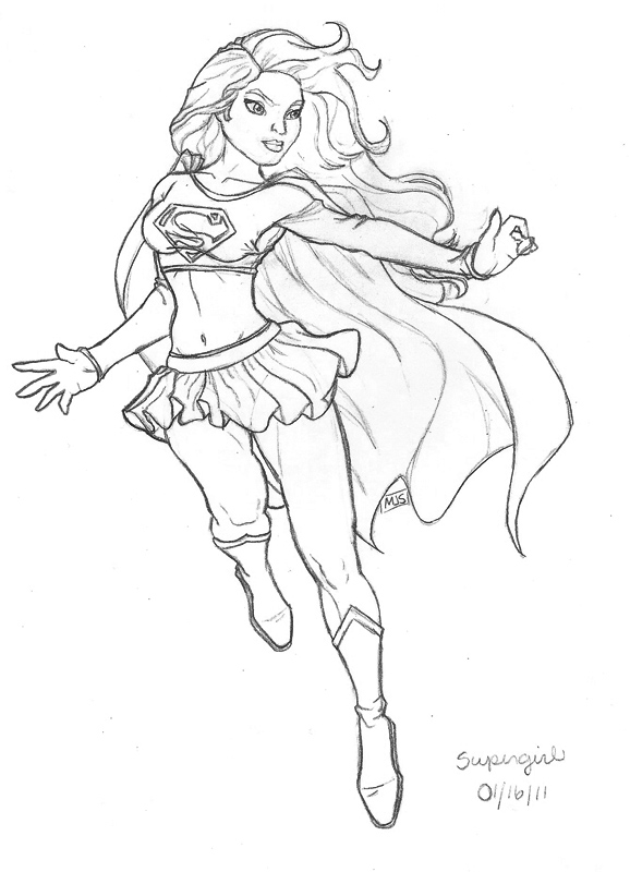 fanart supergirl by kittystavern on deviantart