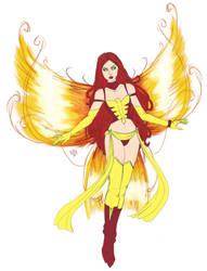 Dark Phoenix Fairy Design by KittysTavern