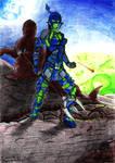 Defending Tajun (Glatorian Kiina V2 - Color)