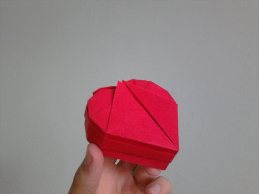 DIY Origami Heart Box & Envelope with Secret Message - Pop-Up ... | 675x900