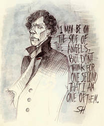 The Sherlock Sketches #7 - Side of the angels by PurpleGoat