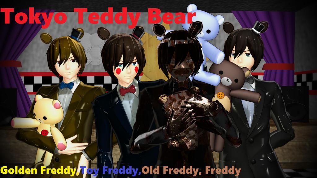 Mmd five night at freddy s tokyo teddy bear by xxgerryxx on