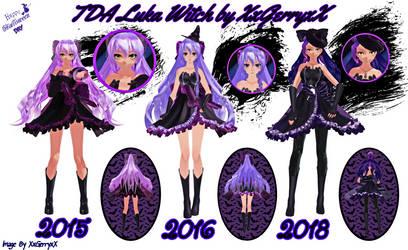 .:Evolution of luka Witch (2015-2018):. by XxGerryxX