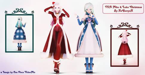 .:TDA Miku and Luka Christmas:. by XxGerryxX