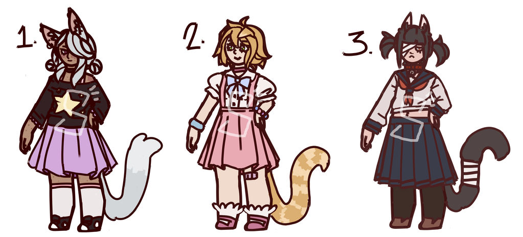 Nekomimi Adopts! 100 points! (1/3 OPEN) by SpiritSiphon