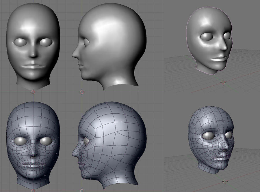 3D human head model -reference by AlatDragon