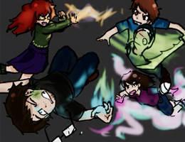 Video Game Frye fight by CopperFirecracker