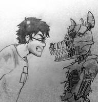 Isaac- random FNAF 4 pencil sketch by CopperFirecracker