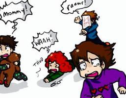 Little Fryes - Jordan's Sibling Chase by CopperFirecracker