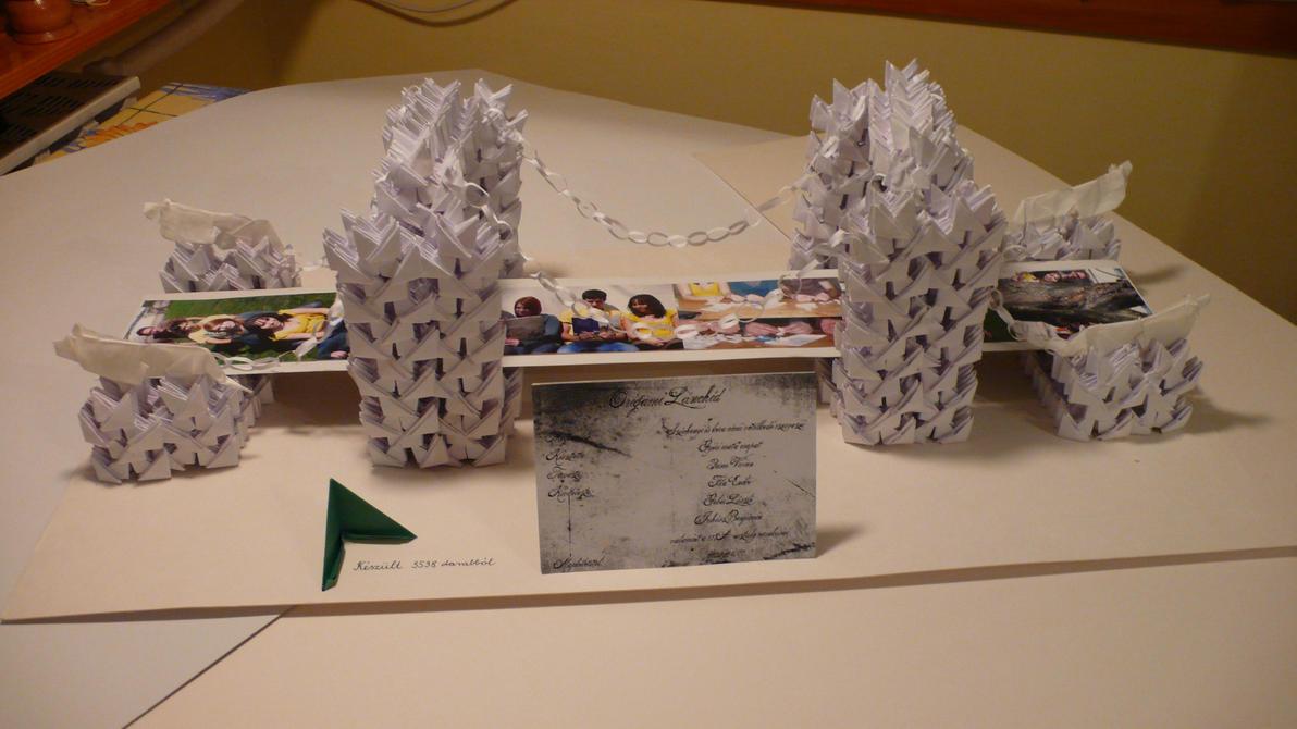 Мост из бумаги оригами