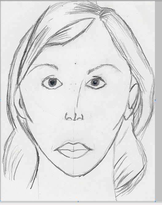 Simple Face Sketch by fossilera on DeviantArt